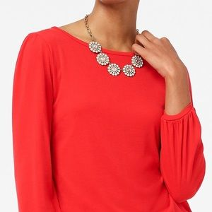 J Crew Factory Layered Crystal Circle Necklace